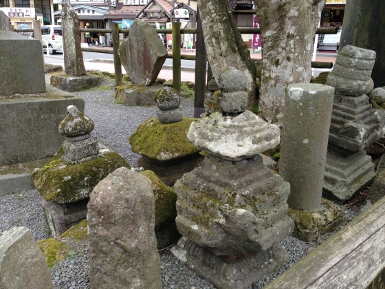 I think these were gravestones. Hakone area. So COLD I wanted to stab people. Vastly underprepared in the coat department.